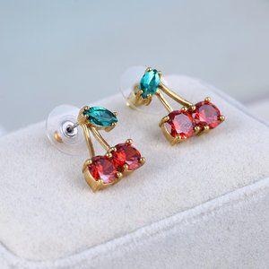 Kate Spade Cute Red Cherry Fruit Earrings
